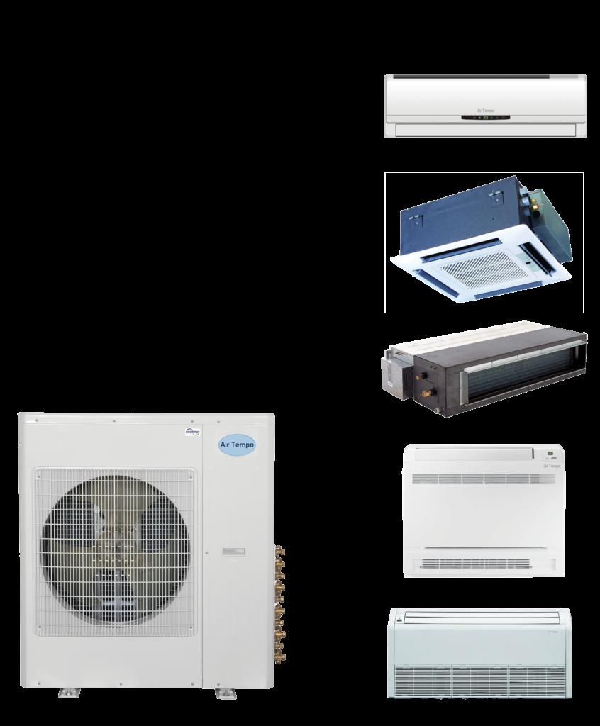 unité extérieure multi zone air tempo mini split climatisation et chauffage